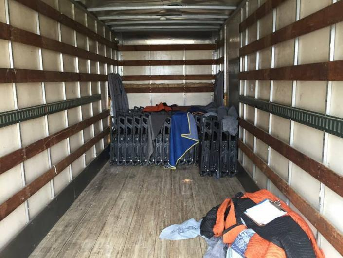 We pack our moving trucks to ensure your belongings are safe.